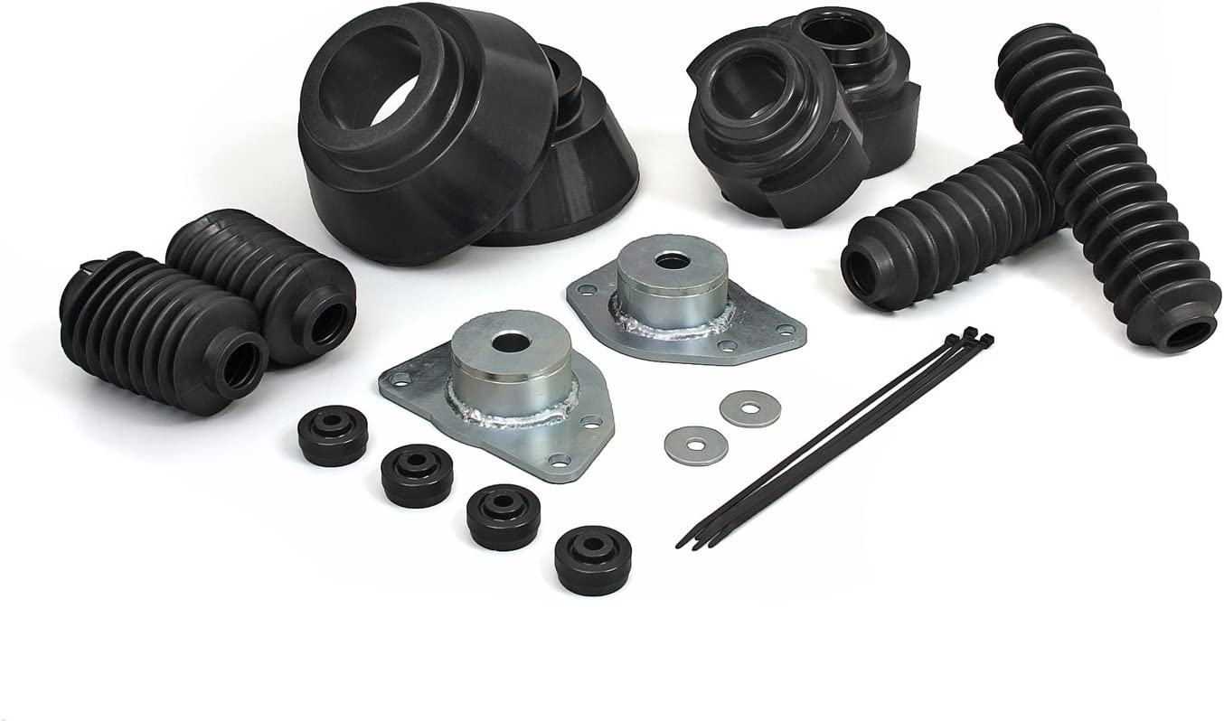 fits 2002 to 2007 2//4WD Made in America Daystar Jeep KJ Liberty 1.5 Leveling Kit Black all transmissions KJ09119BK