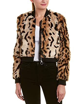 8e8e73e96 Bardot Womens Printed Bomber Jacket, S, Brown at Amazon Women's ...