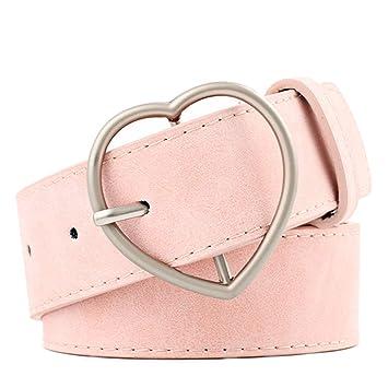 56b11cdd500829 Westeng 1 Stück Ledergürtel Mode Breiter Gürtel Taillengürtel mit Herzform  Schnalle Bindegürtel Jeansgürtel Hüftgürtel Kleidgürtel (