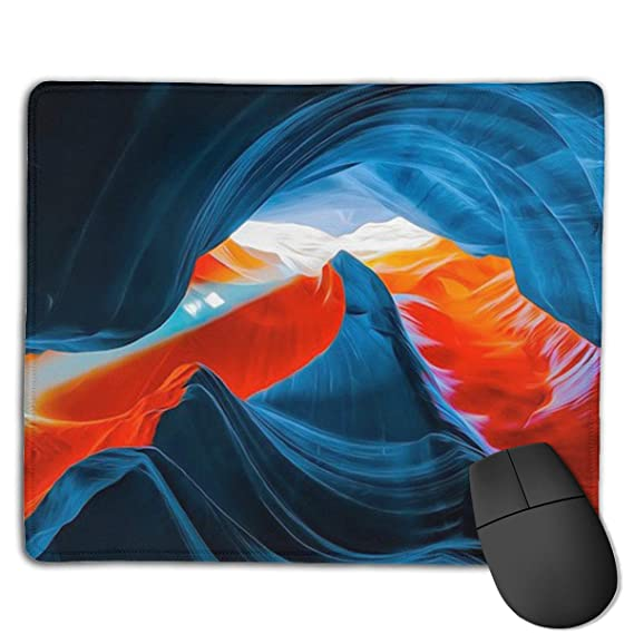 PC Mouse pad Non-Slip Stitched Edge Red For Computer Gaming Laptop Rubber Base