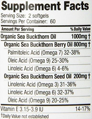 Sea Buckthorn Oil Blend, Omega-7 Complete (Pack of 3)