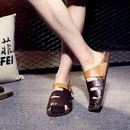 Sandales d'été Couleur ZHANGRONG C E Pantoufles taille Femme Pantoufles Couple 36 TRq7XU
