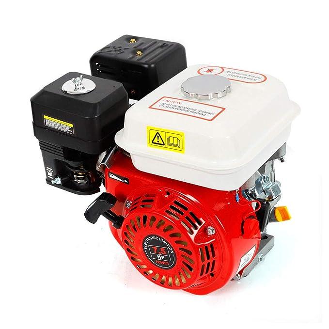 OUBAYLEW Motor de Gasolina de 5,1 kW, 7,5HP, 4 Tiempos Recambio Coche Herramienta Vehículo, Motor de reemplazo Ideal para Bombas de Agua Segadoras ...