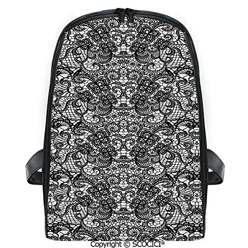 SCOCICI Casual Stylish Backpack Classical Bridal Composition Vintage Spring Motifs Victorian Wedding Inspirations Decorative 2019 Deals! One Size (Best Wedding Motif For 2019)
