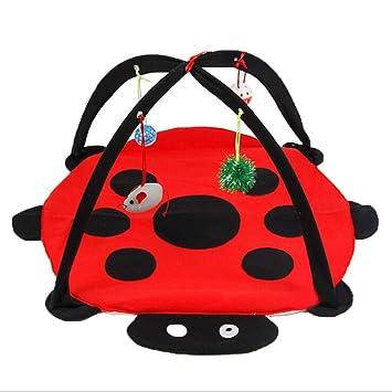 Magical shop Suministros de Mascotas Tienda de Gato Rojo Escarabajo Campana Divertida Hamaca de Gato Juguete para Mascotas 61 * 61 * 34 cm: Amazon.es: ...