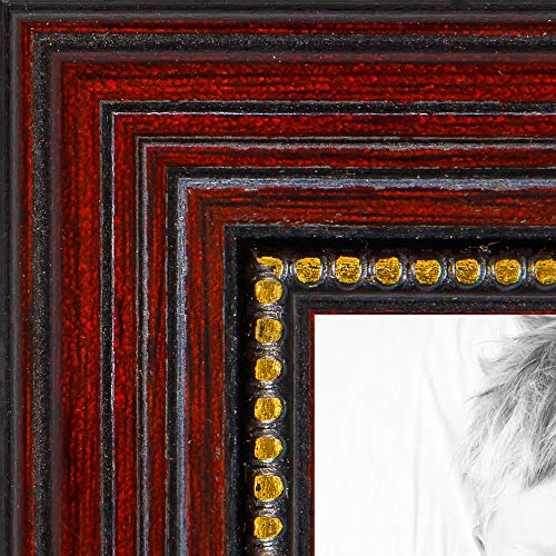 ArtToFrames 9x17 inch Berry Rustic Barnwood Wood Picture Frame 2WOM0066-83235-YPNK-9x17