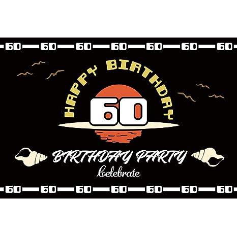 OERJU 1,5x1m Feliz Cumpleaños Partido Fondo 60 Cumpleaños ...