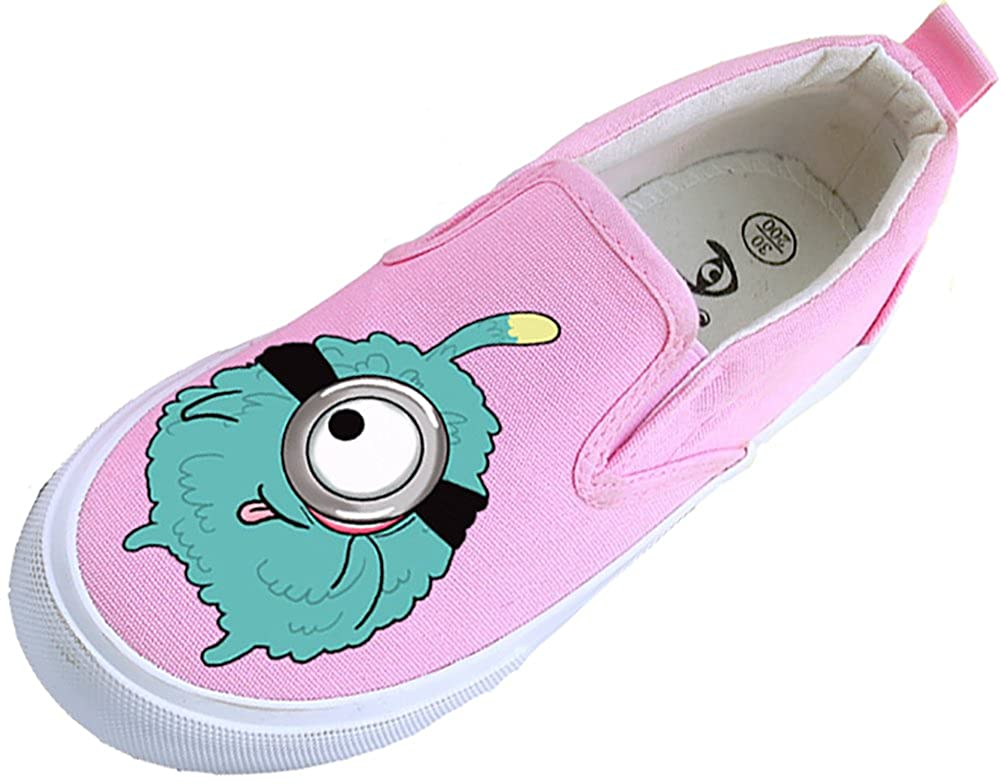 VECJUNIA Boys Girls Cute Breathable Soft Flats Fabric Shoes with Cartoon Print