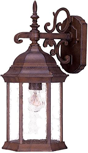 Acclaim 5184BW SD Madison Collection 1-Light Wall Mount Outdoor Light Fixture, Burled Walnut