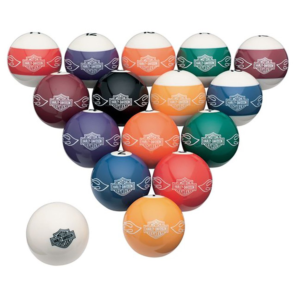 Harley-Davidson Bar & Shield Flames Billiard Ball Set by Harley-Davidson