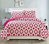 Fancy Collection 3pc Bedspread Bed Cover Revirsable Beige White Pink New#68 (California King)