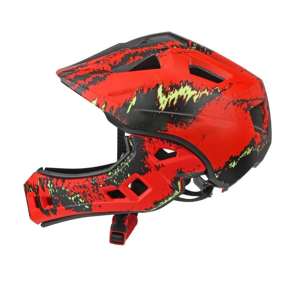 6つの素晴らしいデザインのキッズサイクルヘルメット - サイクリング、スケート、スクーティング用 - 調節可能なヘッドバンドベントデザイン - 4、5、6、7、8、9、10、11歳のお子様に最適(52-56cm用) (Color : Red)   B07NRN6RFY