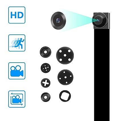 Mini Cámara Espía Oculta 1080P DIY Portátil Encubierta Niñera Seguridad del Video con Detección de Movimiento