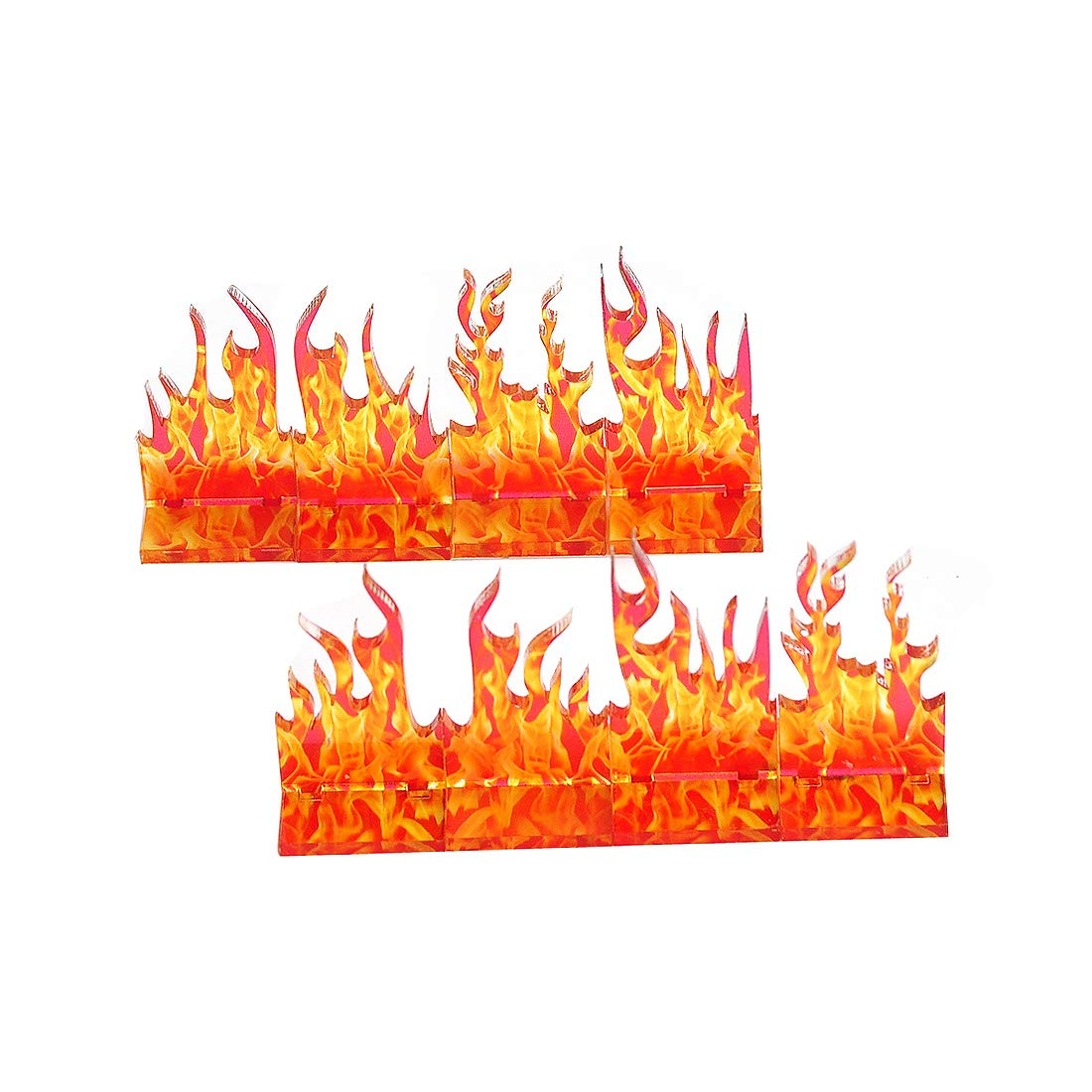 D&D Wall of Fire Miniature (Set of 8) Spell Effects Flame Terrain for Dungeons and Dragons, Pathfinder and Other Tabletop RPG by CZYY