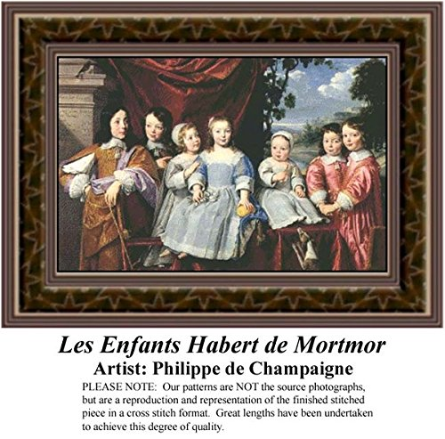 Les Enfants Habert de Mortmor, Fine Art Counted Cross Stitch Pattern (Pattern Only, You Provide the Floss and Fabric)