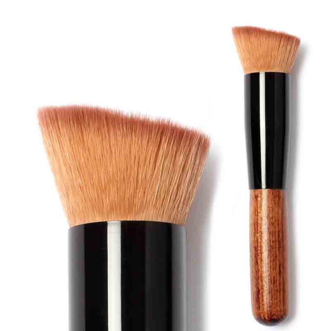 Familizo Solid Wood Handle Powder Concealer Blush Liquid Foundation Makeup Brush Familizo001