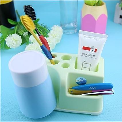 YJH Multifuncional cepillo de dientes titular Titular / Pasta de dientes / sostenedor de taza del