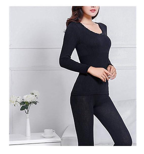 Amazon.com: Traje interior largo Johns para mujer, sexy, de ...