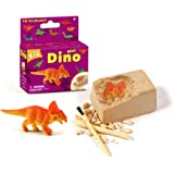 WoW!DIGGING UP KIT! Mini Dinosaur Fossil Excavation Dig Kit Toy, 12 styles for collection