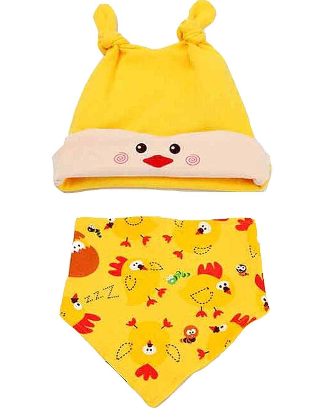 Cute New Born Baby Yellow Chick Cap /& Bib