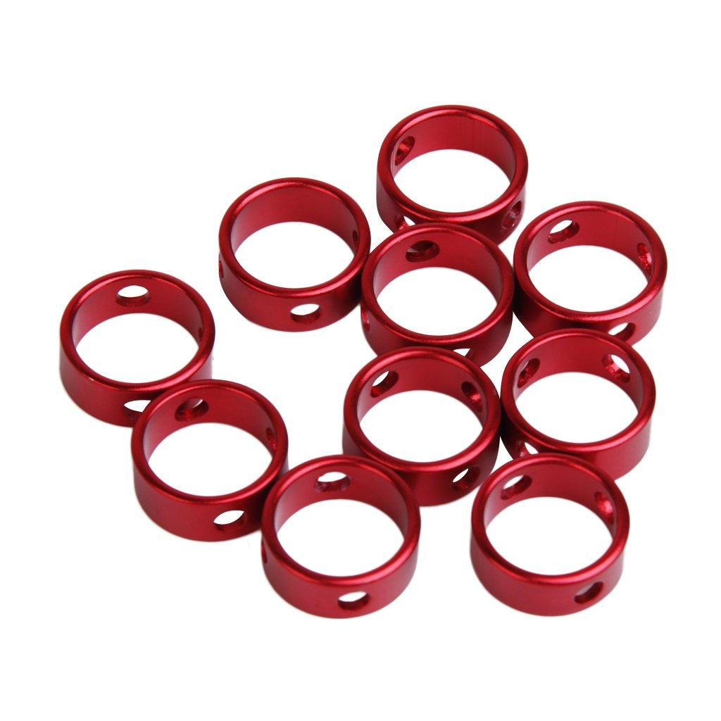 10pcs aleación de 3 agujeros Redondo Forma Anillo Para la cuerda cable de Antideslizante L-FENG-UK T099