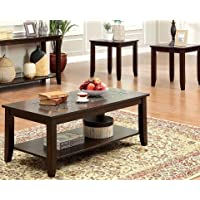 247SHOPATHOME Idf-4669-3PK Living-Room-Table-Sets, Cherry