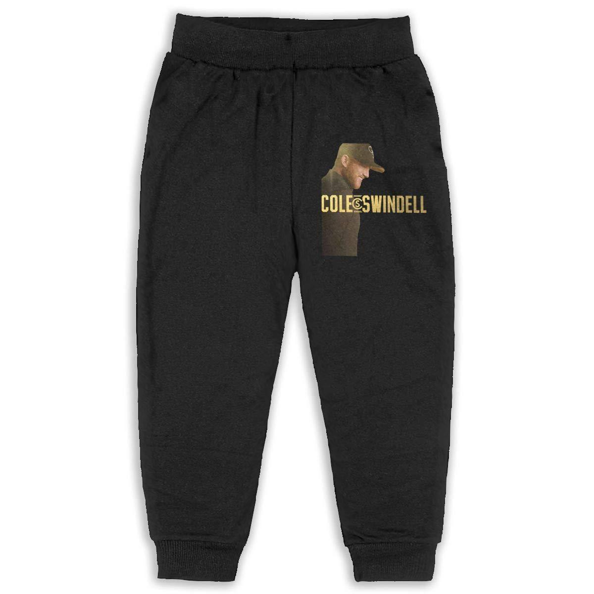 Trisharosew Kids Cole Swindell Music Band Boys Girls Sweatpants Basic Pants Back Pocket Black