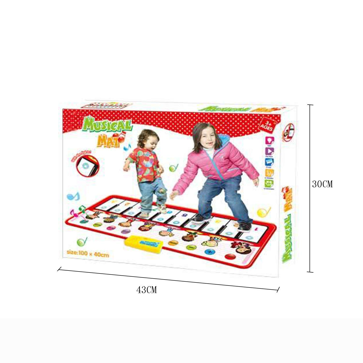 YFQ Crawling Mat Electronic Piano Multi-Function Children's Music Crawling Blanket Game Pad Early Education Toy Mat Environmental Protection Educational Toys by YFQ (Image #7)