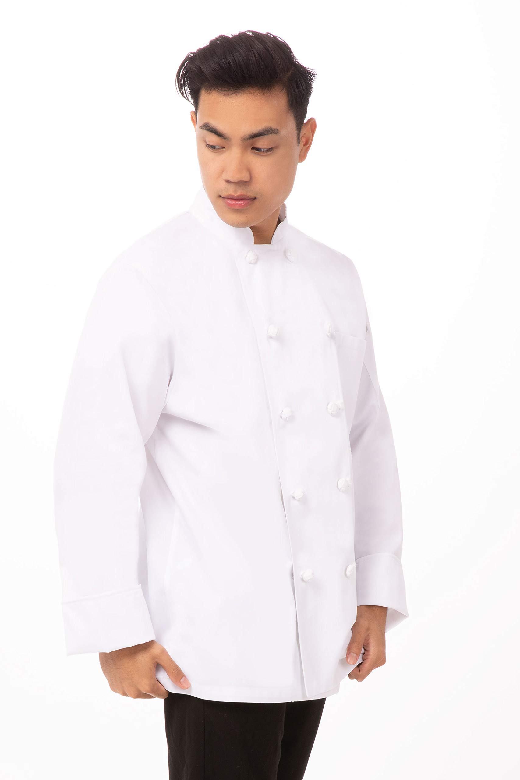 Chef Works Men's Montreaux Executive Chef Coat, White, 40 by Chef Works