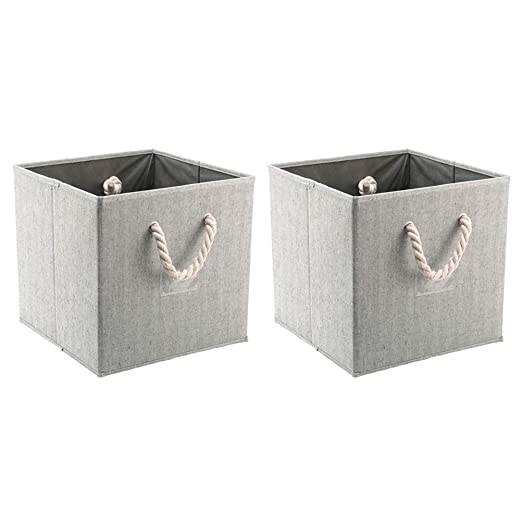 TOPBATHY Caja de Almacenamiento con Asas de Cuerda de algodón ...