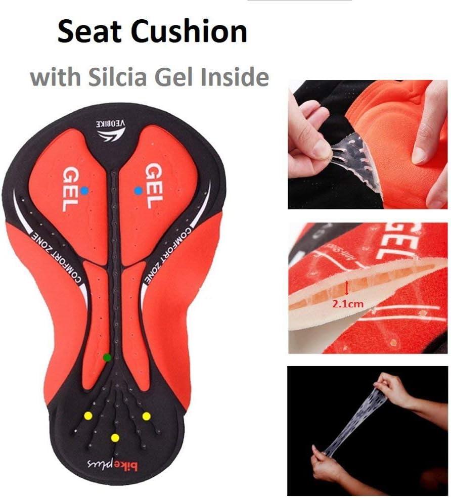 3D Deluxe Acolchada Ecuestre Pantalones Cortos con Alta Permeabilidad M//L//XL//XXL//XXXL Opcional ALLY Ropa Interior de Hombres Ciclismo Bicicleta