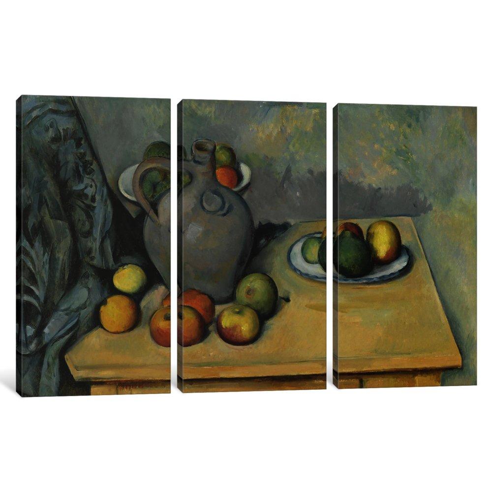 0.75 x 60 x 40-Inch iCanvasART 3-Piece Pichet Et Fruits Sur Une Table 1893-1894 Canvas Print by Paul Cezanne