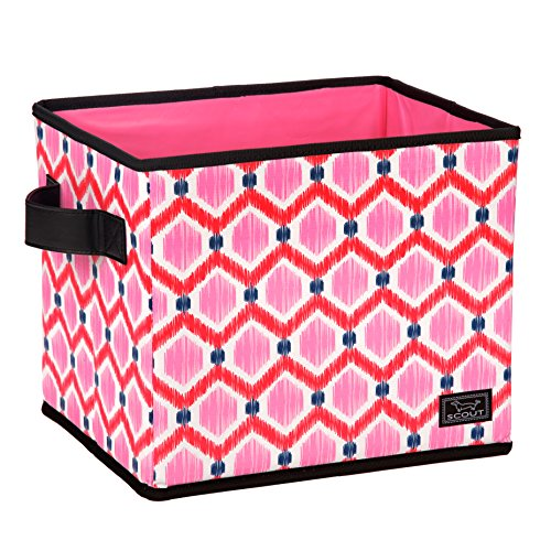 SCOUT Hang-10 Bin Collapsible Medium Storage Bin, Holds Hanging Files, Reinforced Bottom, Folds Flat, Water Resistant, Bee's Knees - Print Medium Storage Bin