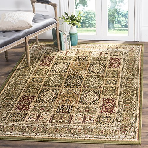 safavieh lyndhurst collection lnh217a traditional multi and green square area rug 8u0027 square