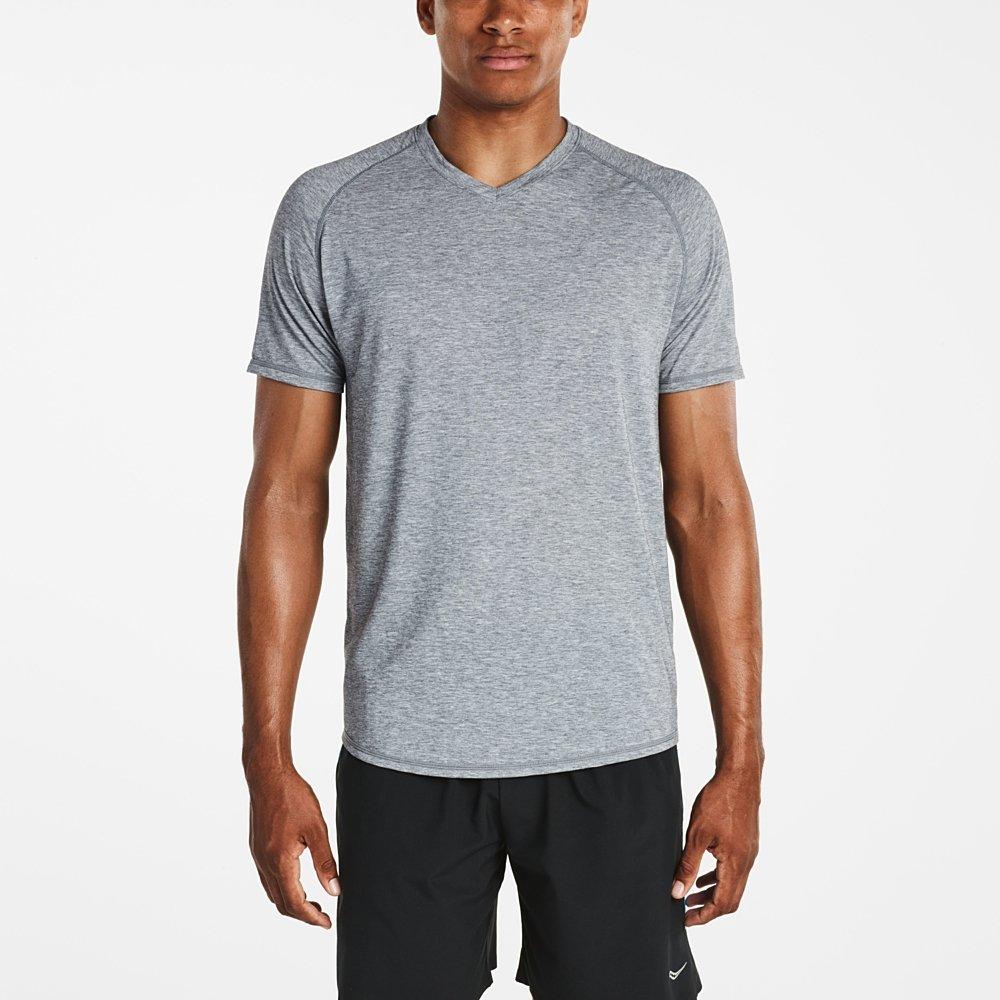 Saucony Men's Freedom V Neck Short Sleeve Shirt