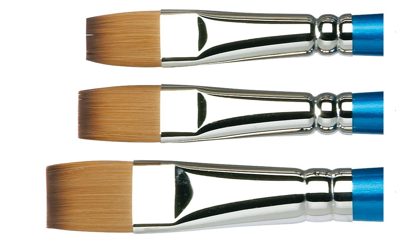 Winsor /& Newton 687260 Pinceau Aquarelle Cotman S/érie 555 Plat Court Manche Long N1 22,2 x 1,2 x 1,2 cm Transparent Bois