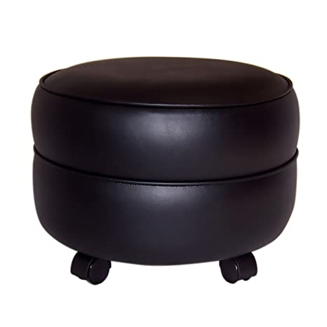 Surprising Amazon Com 600N 950W Nw Enterprises Round Vinyl Ottoman Ibusinesslaw Wood Chair Design Ideas Ibusinesslaworg