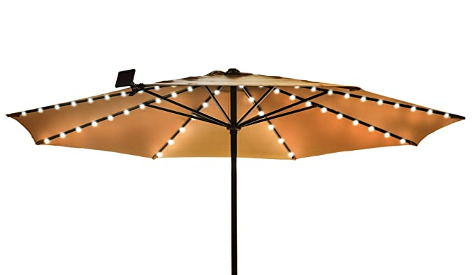 Solar Patio Umbrella LED String Lights - Solar Patio Umbrella LED String Lights - - Amazon.com