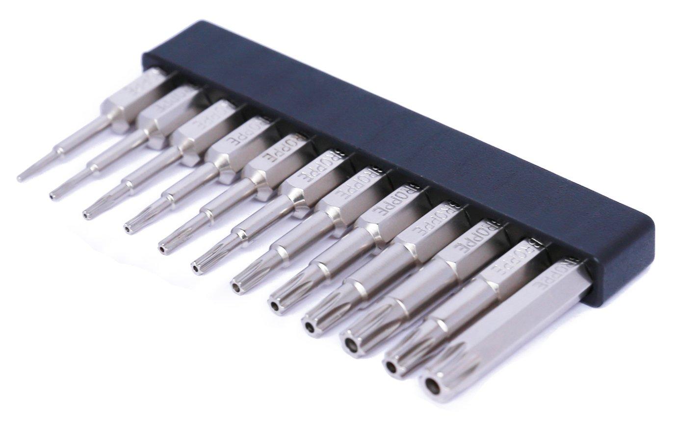12 Pcs Torx Drill Screwdriver Bits Set, 1/4'' Quick Release Hex Shank Magnetic Torx Screwdriving bits set