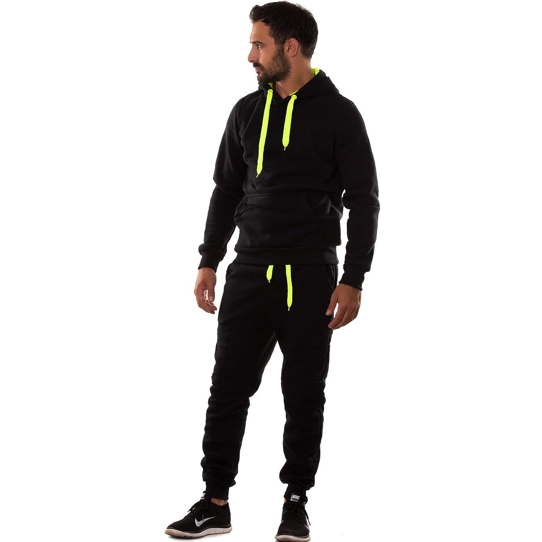 Tuta Uomo Felpa Pantaloni Fitness Palestra Cappuccio Tasche Sport Nuova S6603 Toocool