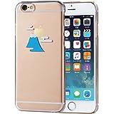 ELECOM iPhone 6s/6 対応 ケース シェルカバー アップルテクスチャ 富士山  PM-A15PVAT09