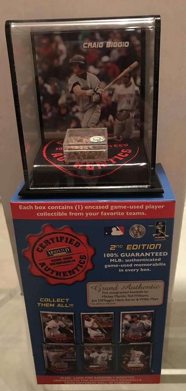 CRAIG BIGGIO ASTROS 2007 MOUNTED MEMORIES GAME USED DIRT DISPLAY CASE MLB HOLOGRAM