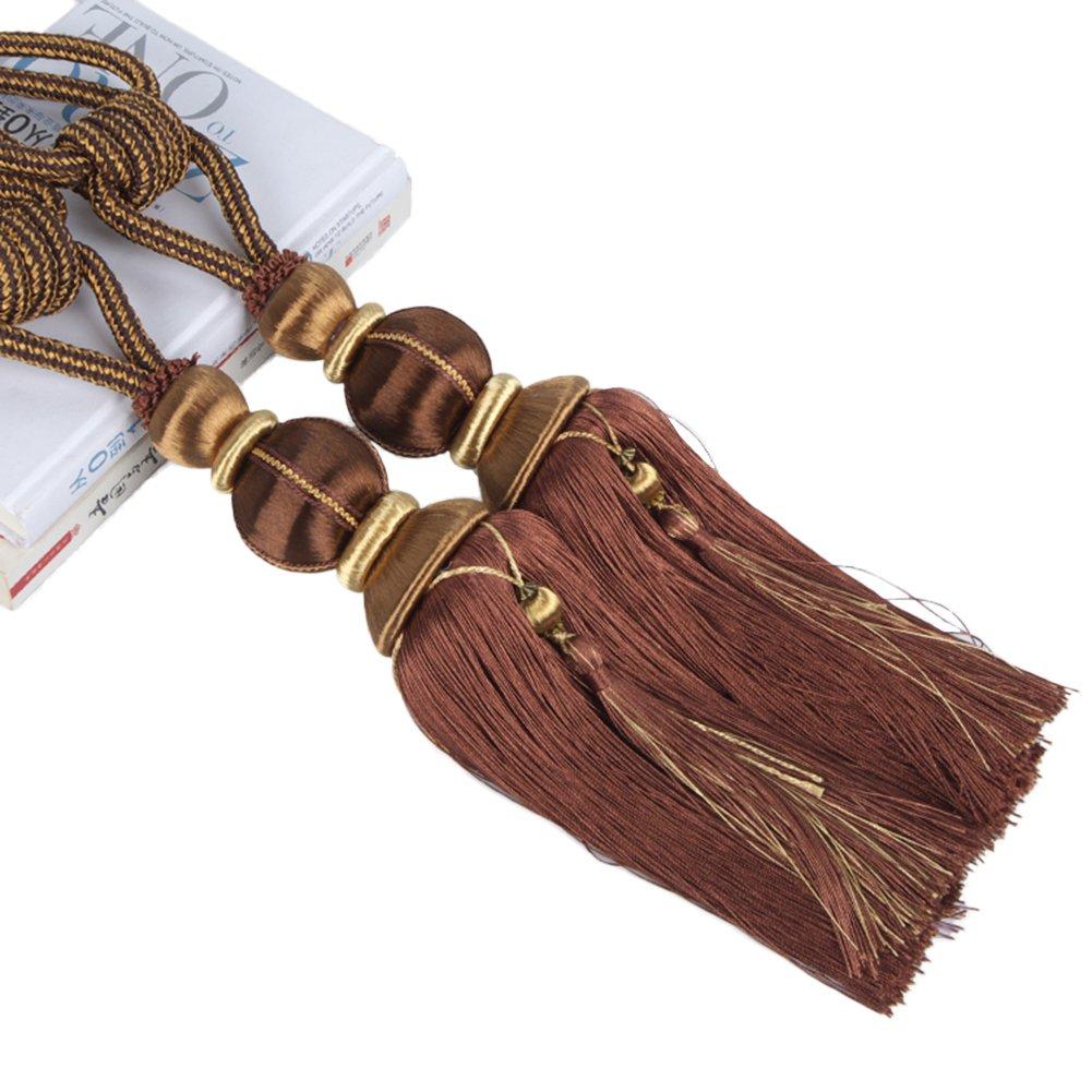 retenues de rideau en forme de boule boucle et frange pour les fen/êtres. corde 1 paire de cordons de rideaux Lantern Tassel