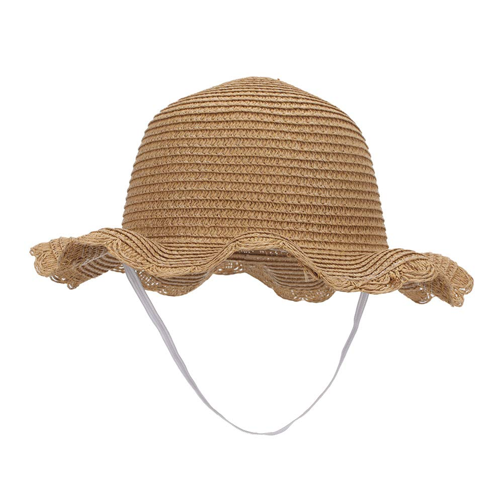 MK MATT KEELY Toddler Sun Hat Baby Girl Caps Cute Summer Breathable Straw Beach Hat for Age 2-6 Years Old