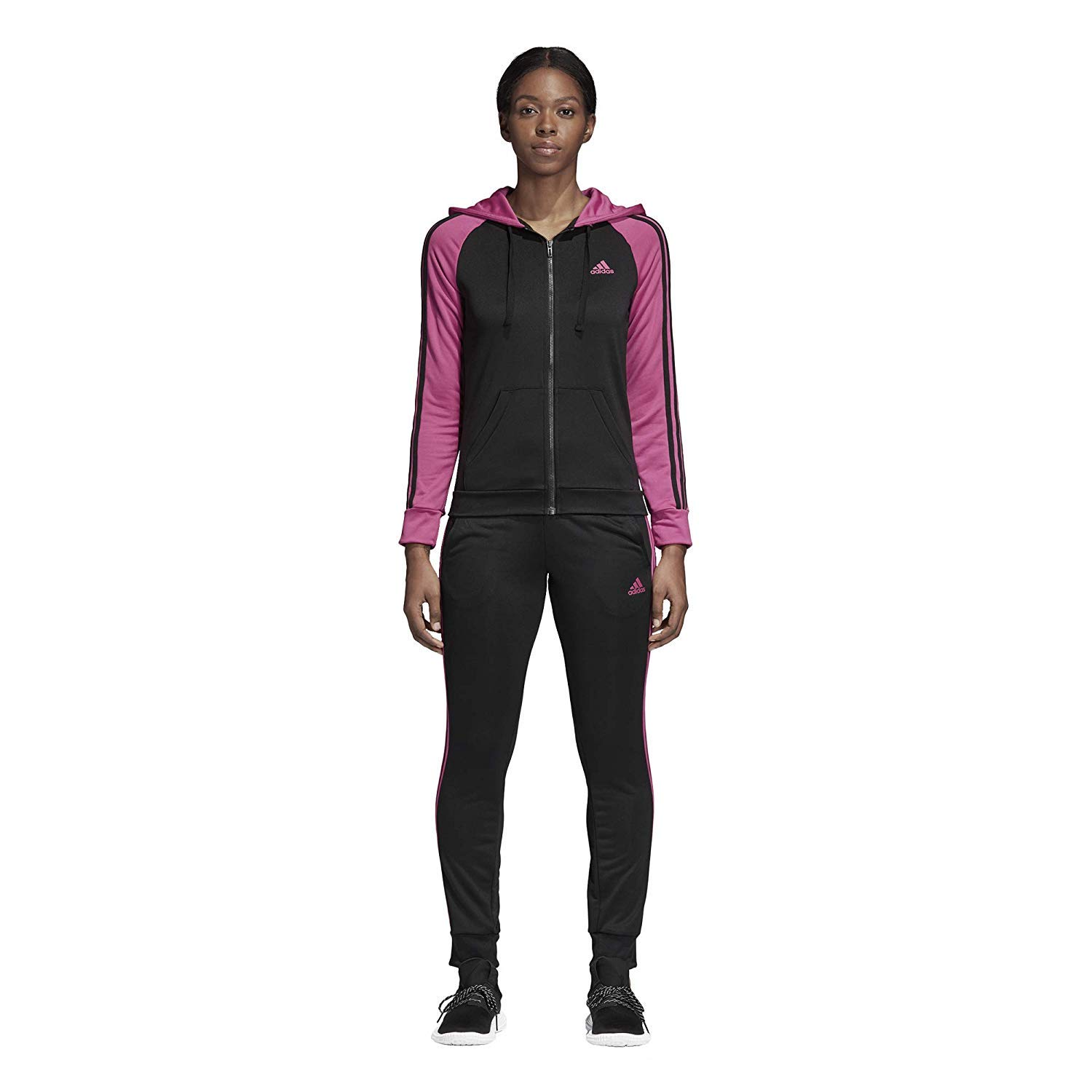 new product c6336 21b3e Adidas Women Track Suit Re-Focus Training 3-Stripes Black Gym Workout  CY3517 (XS)  Amazon.ca  Clothing   Accessories