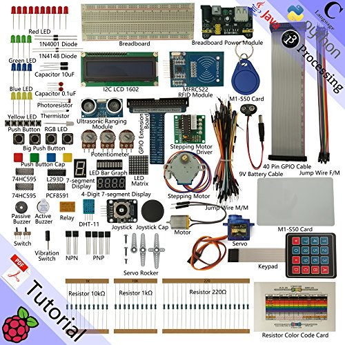 Freenove RFID Starter Kit for Raspberry Pi, Model 3B+ 3B 3A+ 2B 1B+ 1A+ Zero W, Python C Java, 53 Projects, 420+ Pages Detailed Tutorials, 200+ Components]()