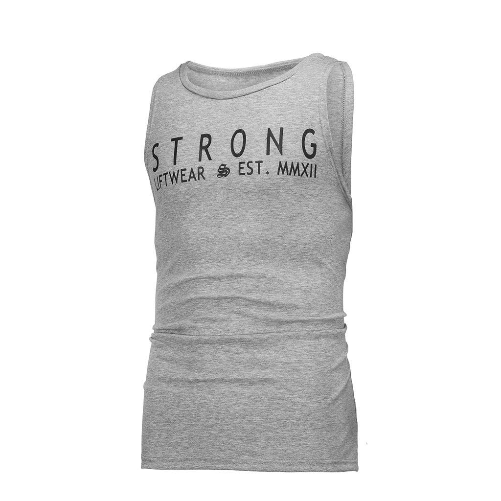 aiNMkm O Neck Tank Tops,Men Sleeveless Bodybuilding Shirt Tank Top Tee Singlet Fitness Sport Vest,Gray,M