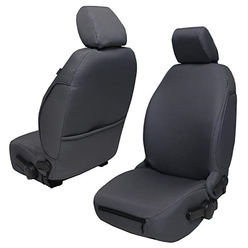 Bartact JKBC2013FPG Base Line Performance Front Seat Covers (Pair) Jeep Wrangler JK and JKU (Graphite)