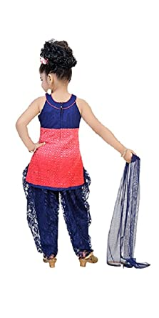 BEDIS Lace Net Salwar Suit For Baby Girl Indian Ethnic Party Wear 0-36months Bollywood