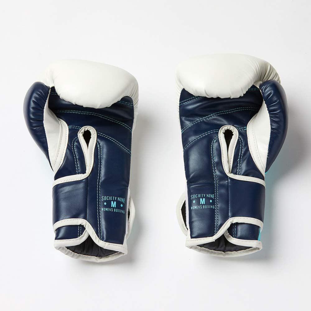 Society Nine Essential Training Gloves Navy//Ice Blue Velcro Closure Foam Construction Lightweight /& Synthetic Leather Ideal for Heavy Bag /& Mitt Work